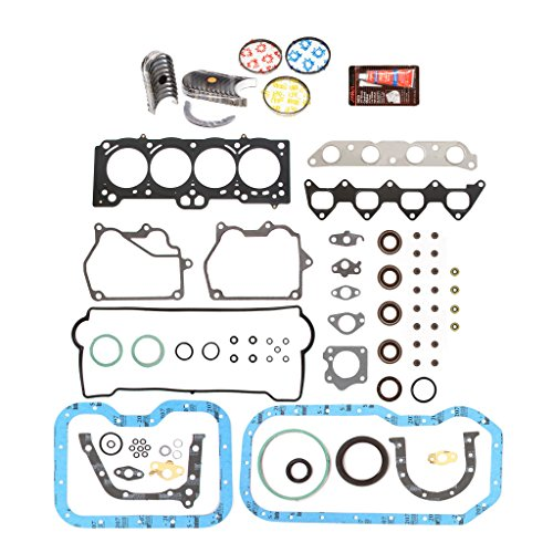 Evergreen Engine Rering Kit FSBRR2015EVE\0\0\0 93-97 Toyota Celica Corolla Geo 1.8 DOHC 7AFE Full Gasket Set, Standard Size Main Rod Bearings, Standard Size Piston Rings (Toyota Corolla 7afe compare prices)