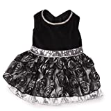 East Side Collection Polyester Glam Dog Dress, XX-Small, 8-Inch, Silver