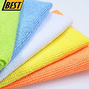 Commart Microfiber Cleaning Cloth Set of 50 Towel Rag Car Polishing Detailing No-Scratch