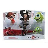 TAKE-TWO Disney Infinity Figure 3-Pack - Sidekicks Includes: Mike Wozowski, Captain Barbossa, Mrs. Incredible. Works with all Disney INFINITY game platforms. / 1108770000000 /