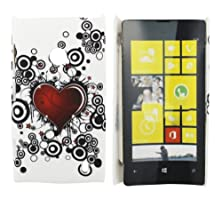 buy Kit Me Out Us Hard Clip-On Case + Screen Protector With Microfibre Cleaning Cloth For Nokia Lumia 525 - Multicoloured Tattoo Heart