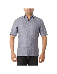 COTTON NATURAL Men's Solid Formal Shirt - B00REQE0CW