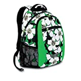 High Sierra Curve Backpack, Big Flowers Kelly Green, 18.5x12.5x8.5-Inch