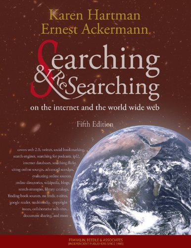 Searching and Researching on the Internet and the World Wide Web, 5th Edition 1590282426 pdf