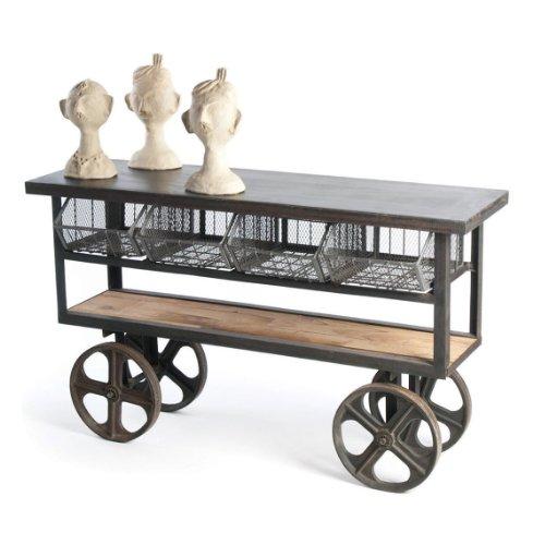 Cheap Industrial Loft Merchandise Console Table Cart (B006WBDTO0)