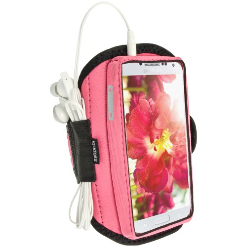 Igadgitz Water Resistant Pink Sports Jogging Gym Armband For Samsung Galaxy S4 Iv I9500 I9505