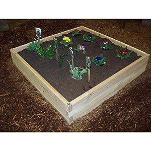 Wood country cedar raised garden bed for Garden pond amazon