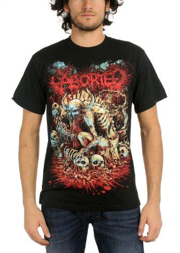 """Aborted-Maglietta da uomo, motivo """"God lavatrice, colore: nero nero Large"""