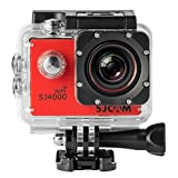SJCAM Original SJ4000 WiFi Version Full HD 1080P 12MP Diving Bicycle Action Camera 30m Waterproof Car DVR Sports DV with Waterproof Case (RED) (Color: RED)