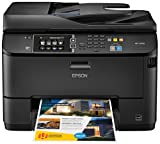 Epson WorkForce Pro WF-4630 Wireless and WiFi Direct All-in-One Color Inkjet Printer, Copier, Scanner, 2-Sided Auto Duplex, ADF, Fax. Prints from Tablet/Smartphone. AirPrint Compatible. (C11CD10201)