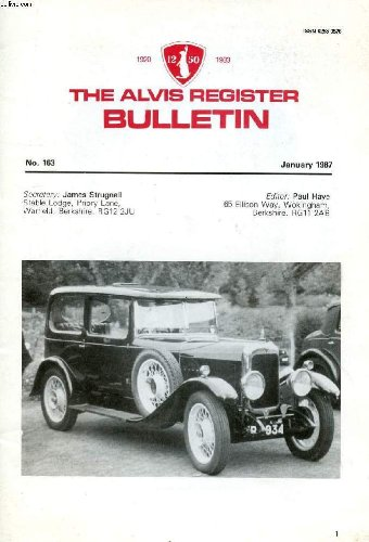 the-alvis-register-bulletin-n-163-jan-1987-contents-rear-chassis-numbers-more-on-magnetos-bulletin-b