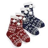 Totes Ladies Luxury Nordic Style Slipper Socks