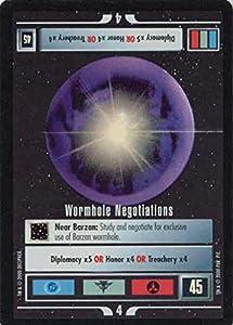 Star Trek Ccg 1e Ref Reflections Foil Wormhole Negotiations 41vr