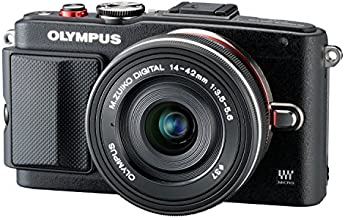 Olympus Pen E-PL6 Kamera (16,1 Megapixel, Full HD, 7,6 cm (3 Zoll) Display, WiFi) inkl. 14-42mm Pancake Objektiv/8GB Flash Air Karte schwarz