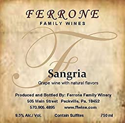NV Ferrone Family Winery Sangria 750 mL
