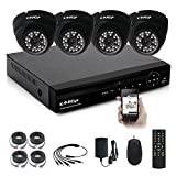 [Security Camera System ] KAREye 4CH 1080N Outdoor Video Surveillance Camera System Motion Detection, IP66 Waterproof Cameras -Quick Remote Access Setup Free Mobile App: Xmeye( NO HDD)