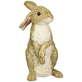 Design Toscano Hopper the Bunny Standing Garden Rabbit Statue, Multicolored