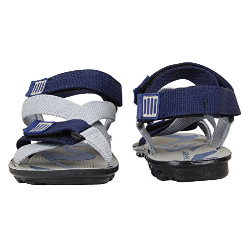 9740fa69dc06 30% OFF on Earton Men s Grey   Blue Sandals   Floaters on Amazon ...