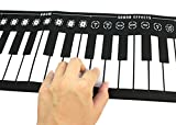 ODGear Flexible Soft 49 Keys Digital Roll-up Electronic Keyboard Piano Multi Functions Support Tone, Rhythm, Demo Songs and Music Recordings