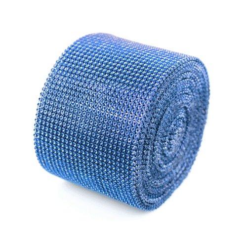 Diamond Wrap Crystal Rhinestone Mesh Wedding Ribbon (10 Yards) (Royal Blue)