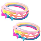 Jelly Bracelet Glow In The Dark Silicone With Bow - 12 Pieces
