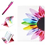 iPad 2/3/4 Case, JCmax Protective Cover New Colorful Premium Flip Folio Style Foldable Side [Card Slots] [Durable Cover] [Kickstand Function] PU Leather Wallet Case Cover Smart Skin For Apple iPad 2/ iPad 3 / iPad 4, Come with one free Stylus -[Floral Pattern]