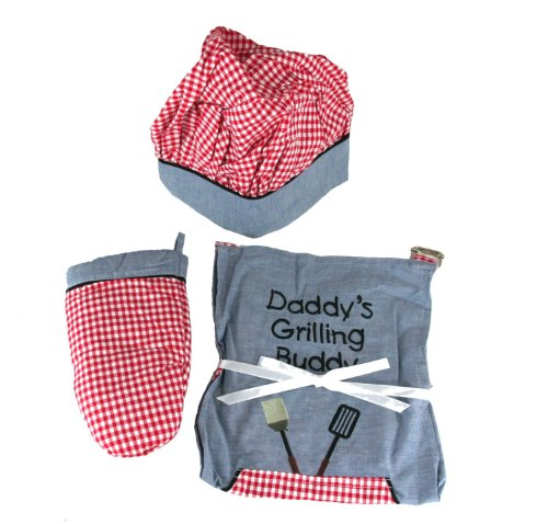 Kid's Apron Set - Daddy's Grilling Buddy