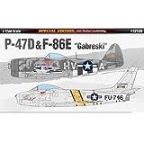 [Academy] Plastic Model Kit 1/72 P-47D / F-86E Gabreski (12530) /item# R6SG5EB-48Q18129