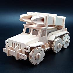 Robotime V410 Military Remote Control Missile Truck Wooden 3D Puzzle Robotime