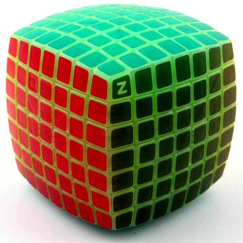 Sunworld 7x7x7 Cube Puzzle z cube Black Speed Cube with night light