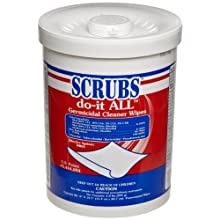 SCRUBS 98028 do-it ALL Germicidal Cleaner Wipe 90 Wipes per Canister (Case of 6)