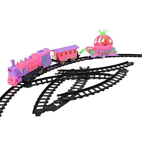 Dazzling Toys Girls Train Set - Motorized Engine, Railroad ...