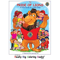Pride of Lions Giant Super Jumbo Coloring Book (18 wide x 24 tall) Paperback