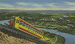 Incline Railway Car Climbs Lookout Mountain Above Chattanooga and the Tennessee River - 8x10-inch Enlargement from a Classic Vintage Postcard