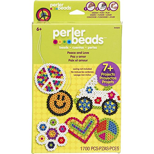 Perler Fun Fusion Hangable Gift Box Kit-Peace And Love - 1