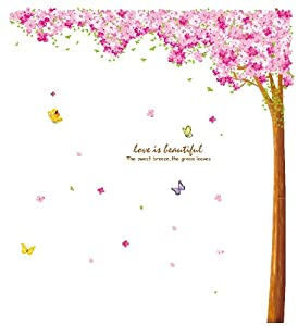 Large Sakura Flower Cherry Blossom Tree Wall Sticker Decals by Kappier