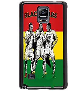 Printvisa Three Footballers In Action Back Case Cover for Samsung Galaxy Note 4 N910::Samsung Galaxy Note 4 Duos N9100