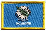 USA Oklahoma Flag embroidered Iron-On Patch