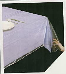 DELUXE COLLECTION Clear Heavy Duty Tablecloth Protector, Oblong 60 X 90