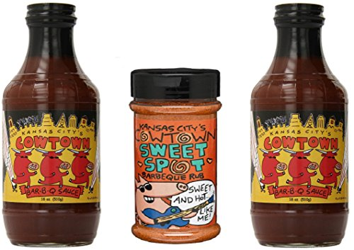 Kansas Citys Cowtown Bbq Sauce And Dry Rub Bundle 3 Pack