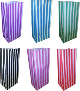 50 x Mixed Candy / Sweet Pick and Mix Paper Party Bags - 105 x 75 x 240mm