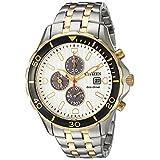 Citizen Men's 'Eco-Drive' Quartz Stainless Steel Casual Watch, Color:Two Tone (Model: CA0564-58A)