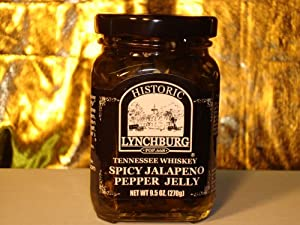 Historic Lynchburg Tennessee Whiskey Spicy Jalapeno Pepper Jelly from Porky's Gourmet Foods, Inc.