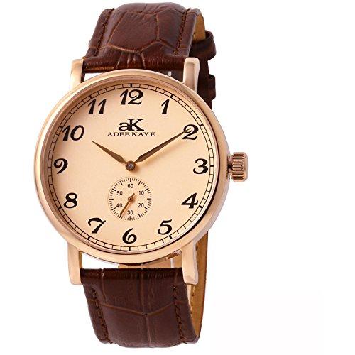 Adee Kaye Men's Vintage Mechanical Japan Movement Watch AK9061-MRG-RG