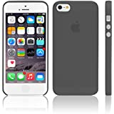 iGard® iPhone 5/5S Ultra Slim Case 0,3mm Cover Premium Schwarz Transparent Schutzhülle Hülle