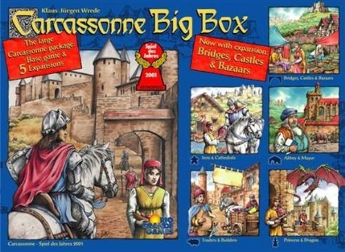 Rio Grande Carcassonne Big Box 3 Board Game