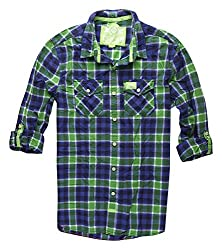 Superdry Men's Cotton Casual Shirt (5054265357831_M40ME011F3_XX-Large_Rare Lime Check)