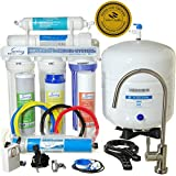 iSpring 75GPD 5-Stage Reverse Osmosis Water Filter System - Comparing to Watts Premier, Crystal Clear, GE, APEC