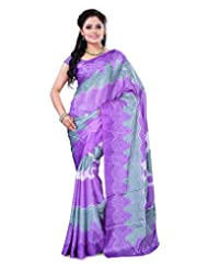 Surat Tex Purple Crepe Daily Wear Beautiful Sarees With Blouse Piece