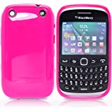 Blackberry Curve 9320 Pink Tpu Jelly Rubber Gel Skin Case Cover Plus Screen Protector & Cleaning Cloth